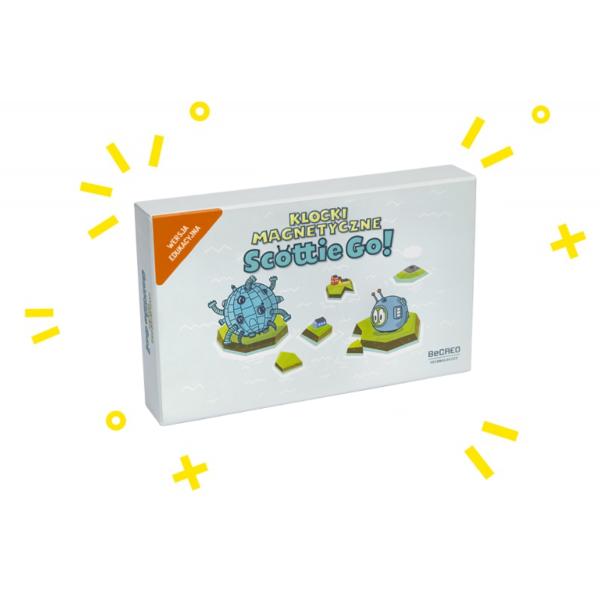 scottie go wersja edukacyjna klocki magnetyczne pudełko